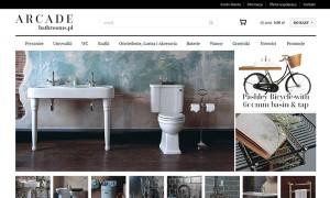 ARCADE Bathrooms - sklep wykonany na oprogramowaniu kqs.store